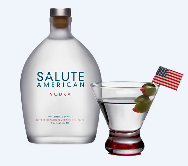 Salute American Vodka Launches Across the Country Charitable Spirit Gives $1 a Bottle Sold to Nonprofits that Support Veterans and Other American Heroes